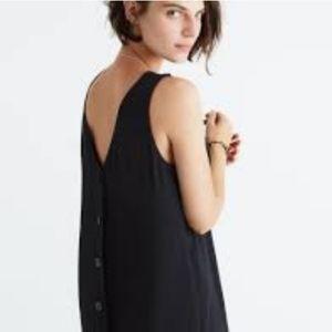 Madewell Lakeshore Black Button-Back Maxi Dress